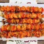 Buffalo Chicken Kebabs