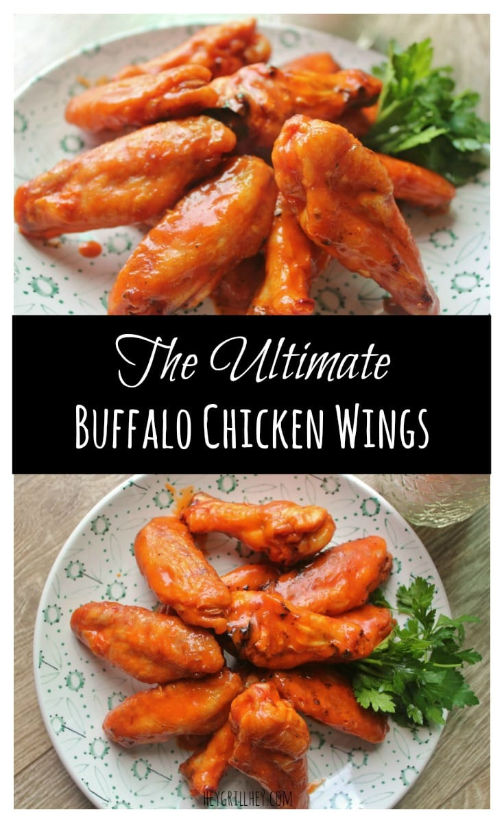 The Ultimate Buffalo Chicken Wings on a white plate.