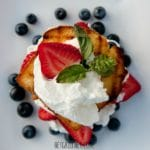 Grilled Lemon Cake with Berries and Cream 1