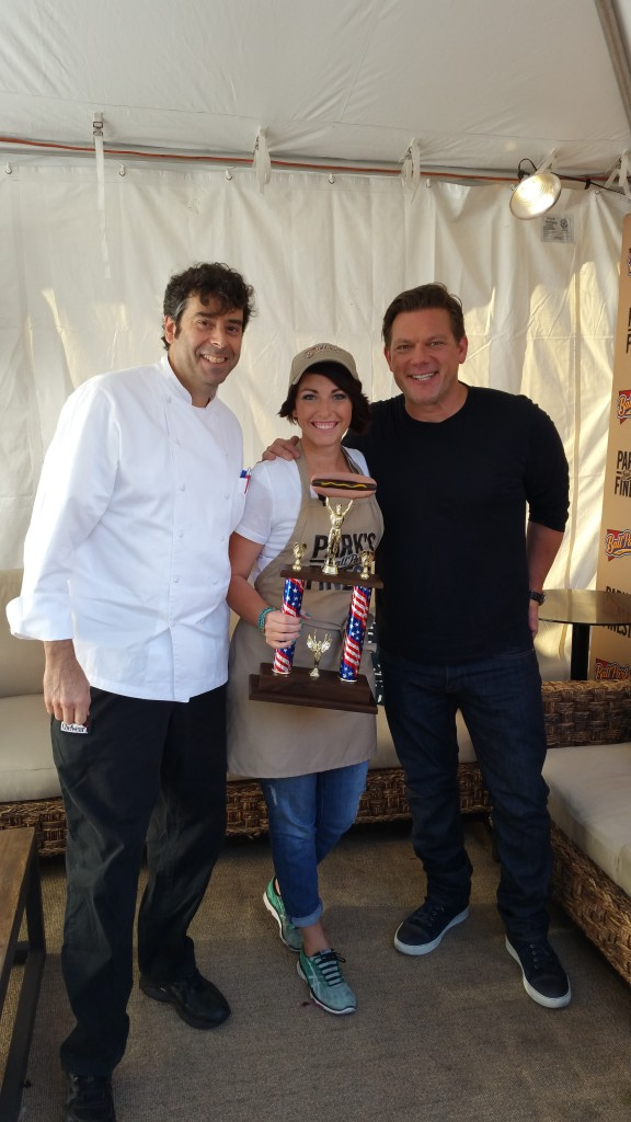 Susie Bulloch with Tyler Florence and Rob Bliefer