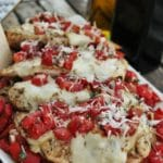 Grilled Chicken with Balsamic Tomatoes and Smoked Mozzarella