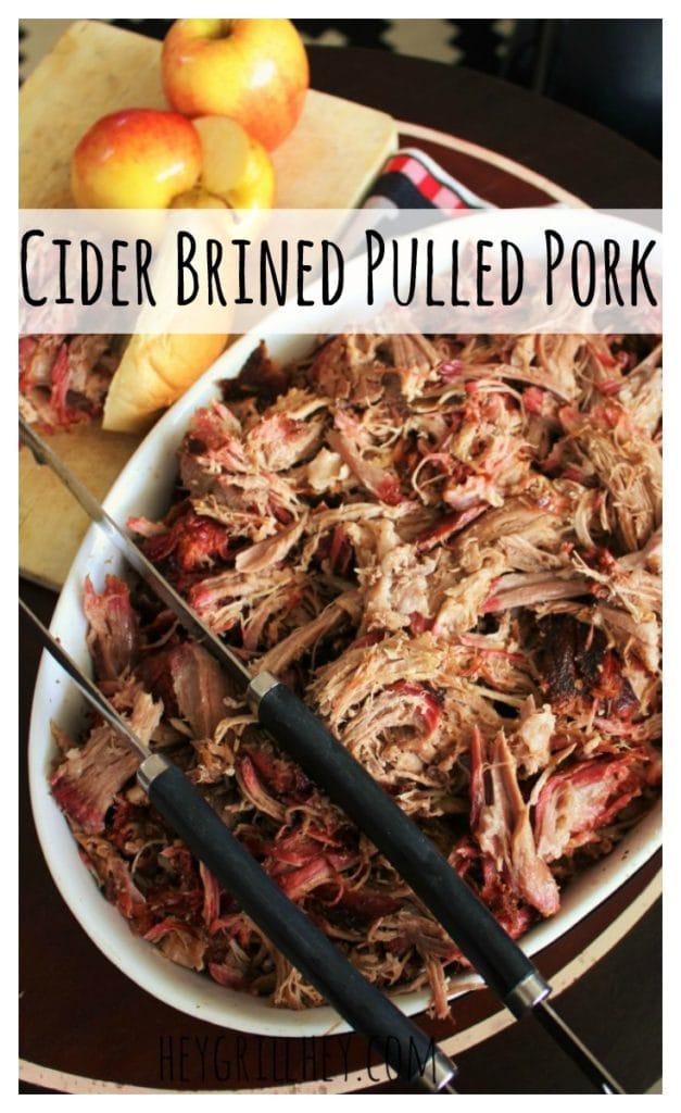 Apple Cider Brined Smoked Pulled Pork