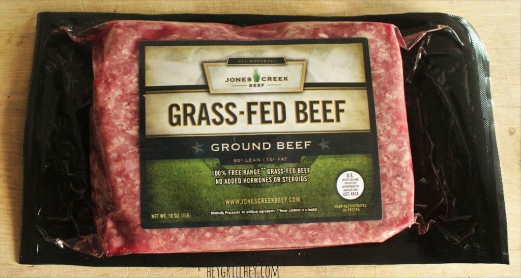 Package Jones Creek Grass Fed Beef.