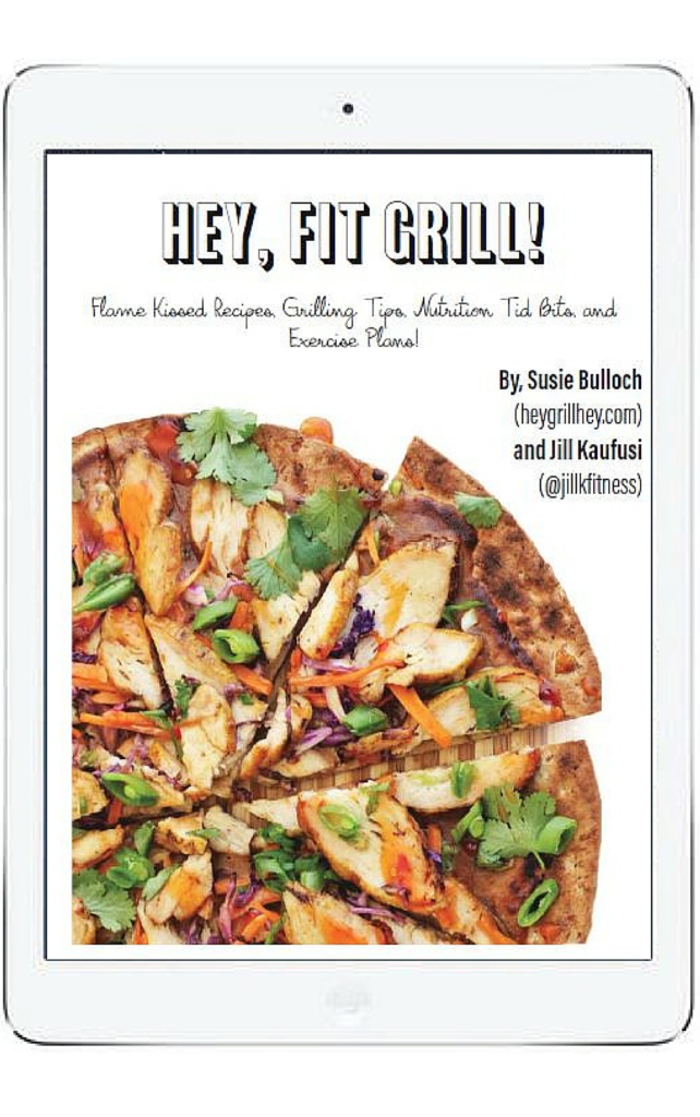Hey Fit Grill eBook with Thai Grilled Chicken Pizza