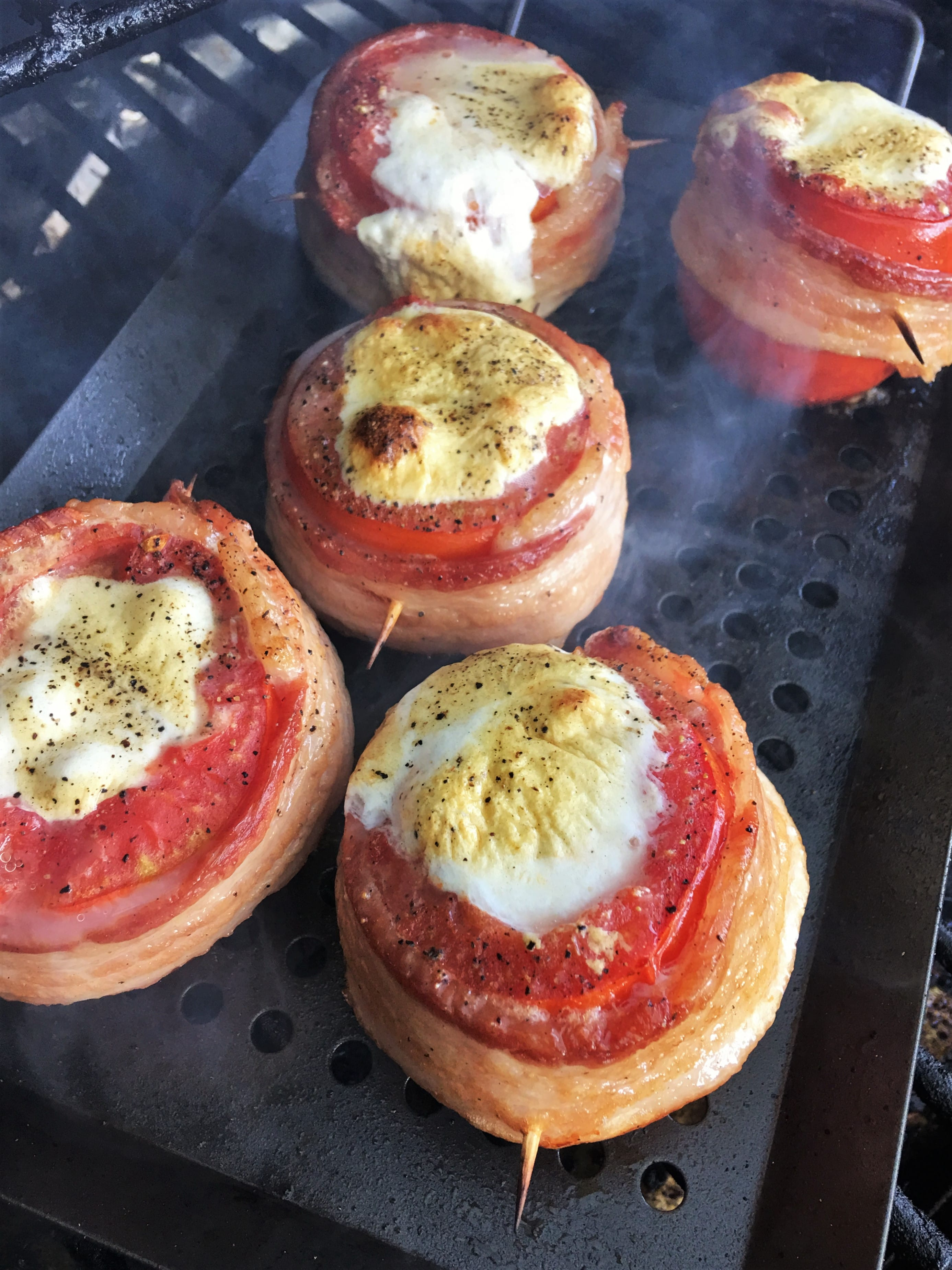 Grilled Stuffed Tomatoes on the grill