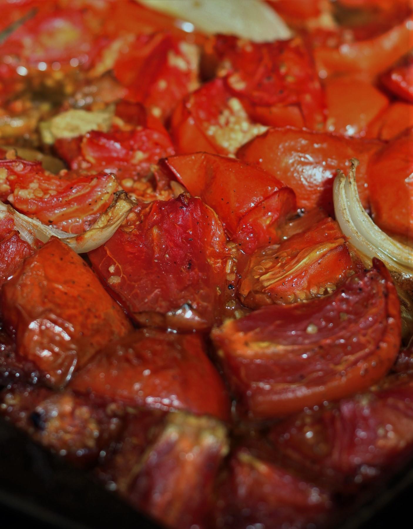 Smoke Roasted Garden Tomatoes.