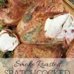Smoke Roasted Spatchcock Turkey. All of that delicious roasted turkey flavor in a fraction of the time!