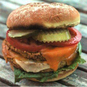 grilled lentil burger