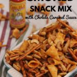 Sweet & Spicy Smoked Snack Mix with Cholula Caramel Sauce