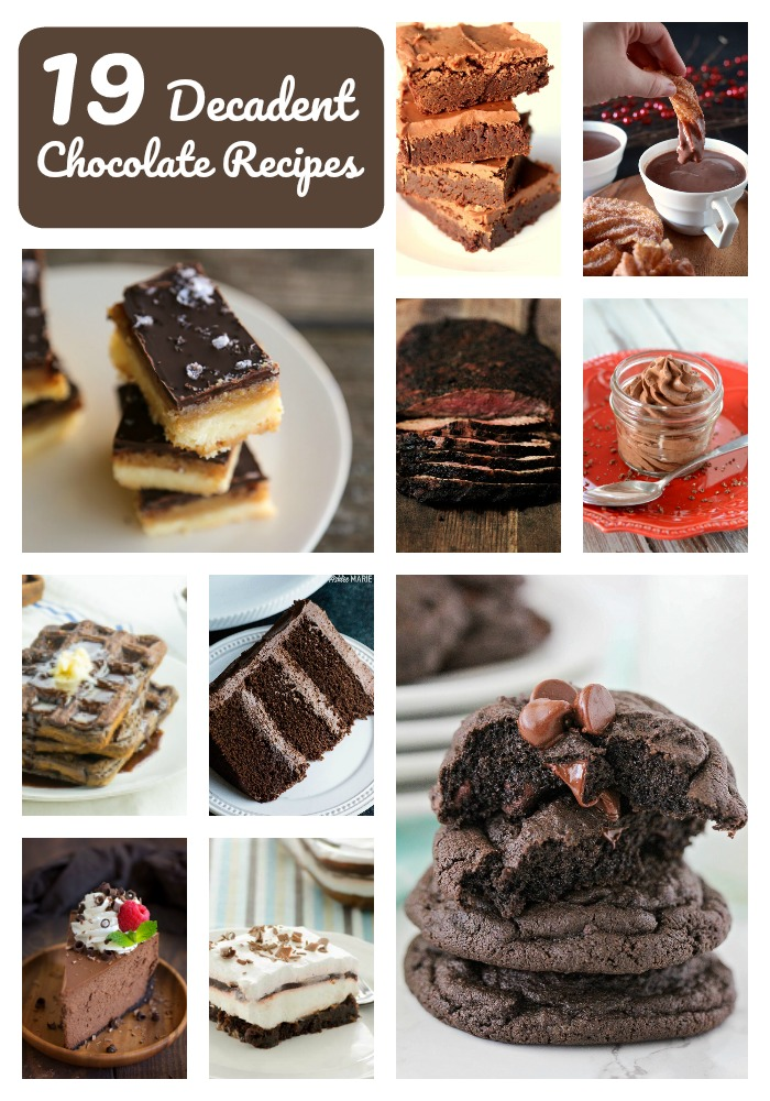 19 decadent chocolate recipes, plus a cocoa powder spice rub recipe!