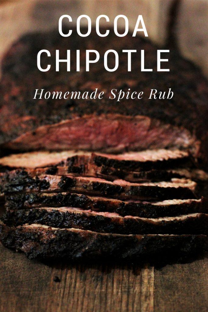 Cocoa Chipotle Spice Rub on a brisket.