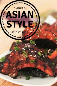 recipe title for Asian Style Sticky Ribs.