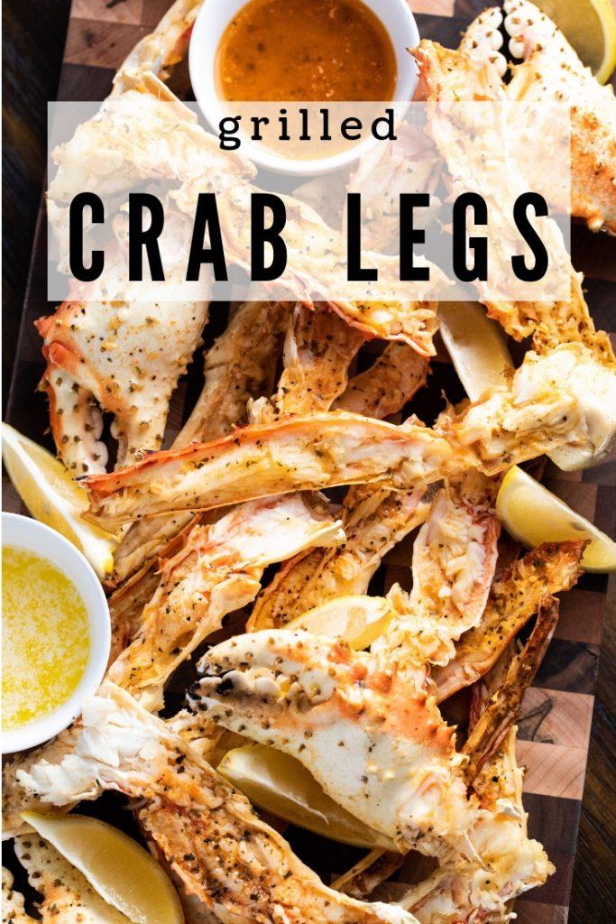 crab legs on a cutting board