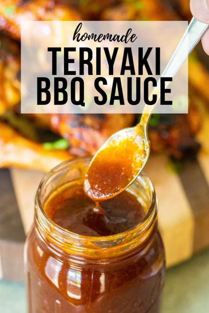 teriyaki sauce on a spoon.