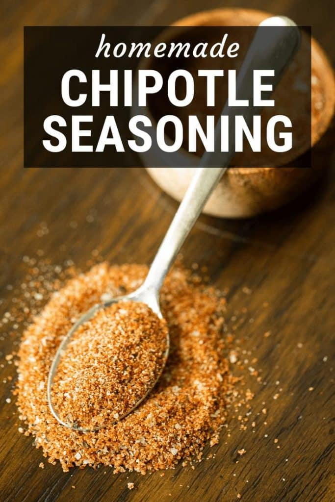 chipotle seasoning on a spoon.
