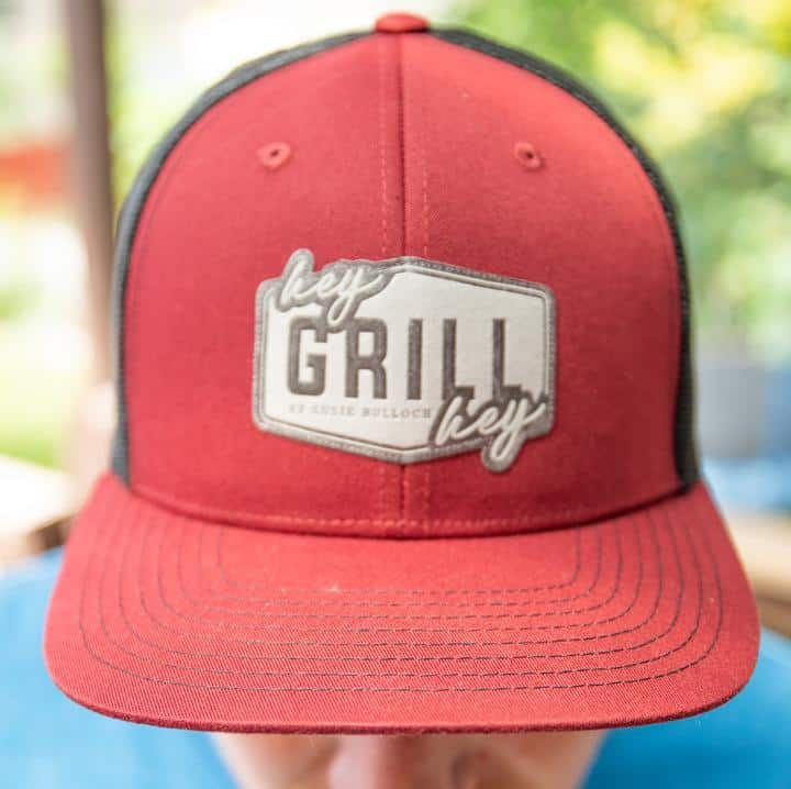 Maroon Hey Grill Hey branded snap back hat