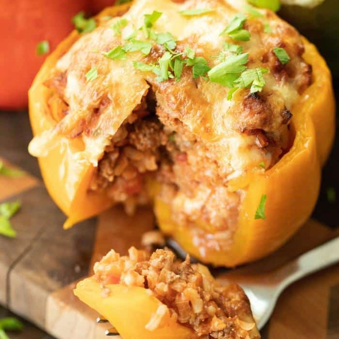 whole grilled stuffed pepper