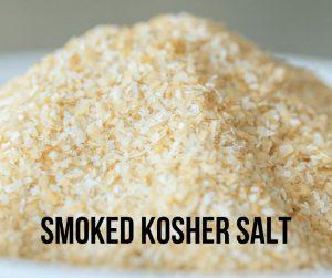 pile of smoked Kosher salt.