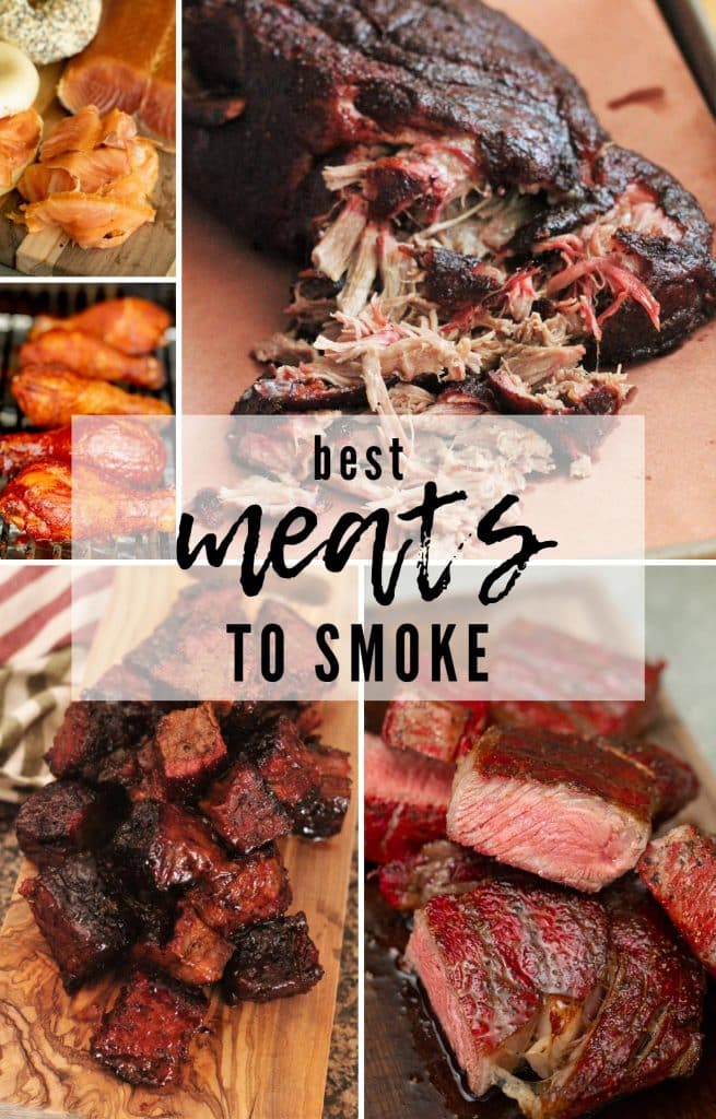 collage of best meats to smoke